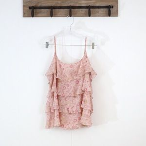 Gap ruffle floral cami